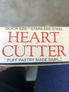 PUFF PASTRY Heart Cutter Quick-Eze Stainless Steel by Bentson-West Designs NIB