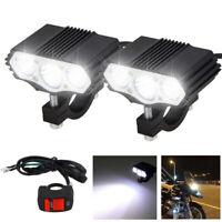 2X 30W T6 LED Motorcycle Offroad Motor Headlight Fog Lamp Spot Light+ Switch