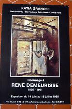 DEMEURISSE René Affiche CHASSE gibier oie canard  Comédie Française POMPON