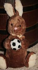 "Dan Dee Bunny Rabbit Soccer Ball Plush 13"" Stuffed Collectors Choice Toy  X2"