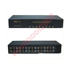 Brand AV Audio Video switch selector 8 in 2 out