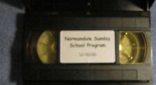 Normandale Sunday School Program 12/10/2000 VHS Tape Minneapolis Bloomington
