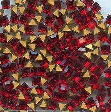 4401 3 S *** 25 strass Swarovski vintage fond conique carrés 3mm SIAM