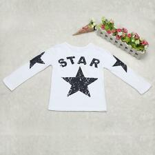 @@Baby Kids Boys Clothes Casual Print Long Sleeve T-shirt Pullover Tops 1-5Y 130