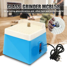 220V Mini Automatic Water Stained Glass Grinder DIY Desktop Grinding