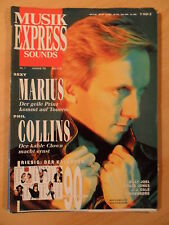 MUSIKEXPRESS 1/1990 * Westernhagen Phil Collins Grace Jones Lindenberg J.J. Cale