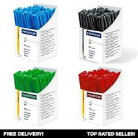 Staedtler Stick 430 Ballpoint Pen Fine/Medium BLACK BLUE RED GREEN
