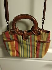 Fossil multicolour fabric and leather crossbody bag