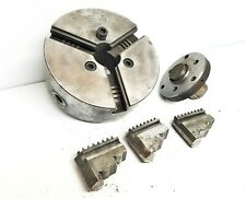 Nice 3408 M Skinner 3 Jaw 8 X 3 Lathe Chuck 2 Thru Hole With Mounting Plate
