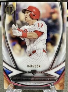 2018 Topps Tribute RHYS HOSKINS Rookie AcclimationSP /254 Philadelphia Phillies