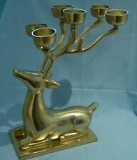 Aluminium XL Reindeer/Stag/Christmas Centre Piece Candle/Tealight Holder GOLD BN