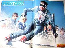 PIERO GROS poster da il Giornalino 1979 sci