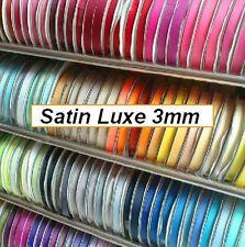 RUBAN SATIN LUXE ** 3 mm ** double face - vendu par 2,5 mètres - Mariage couture