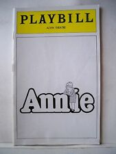 ANNIE Playbill SARAH JESSICA PARKER / ALICE GHOSTLEY / JOHN SCHUCK NYC 1979