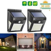 30/40LED Solar Power Light PIR Motion Sensor Garden Security Outdoor Yard Lamp
