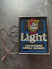 Working Old Style Cold Beer lighted sign 11.5 X 14.5