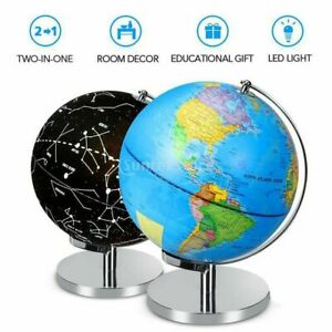 World Globe Constellation Lighting Map Earth Kids Geography Educational Supplies