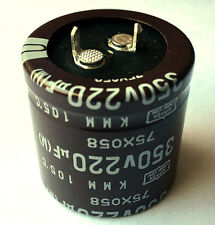 220uF 220 uF 350V Radial Electrolytic Capacitors Snap In (Lot of 5)