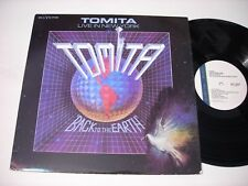 Tomita Live in New York Back to the Earth 1988 Stereo LP VG++