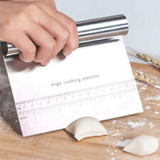 Stainless Steel Kitchen Pizza Scale Flour Scraper Cutter Baking Pastry Tool US
