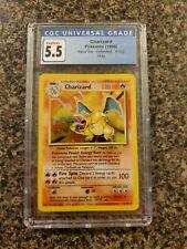 Charizard Pokémon Base Set Unlimited - 4/102 - CGC 5.5