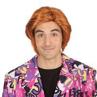 Adult Mens Ginger Tony Pop Star Groovy Disco Austin Powers Wig Fancy Dress New