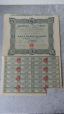Caolino de l 'est-S.A. duta-action di 1927