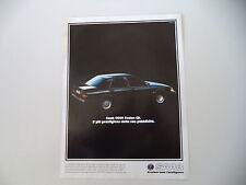 advertising Pubblicità 1988 SAAB 9000 SEDAN CD