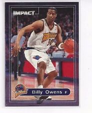1999-00 SKYBOX IMPACT BASKETBALL BASE SERIES BILLY OWENS #192 WARRIORS