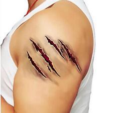 Fake Scar Sticker Make Up Realistic Wound Blood Injury Terror  Tattoo Party Fun