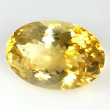 Natural Golden Citrine Oval Cut Brazil Loose Gemstone 19.10 Cts For Pendant Ring