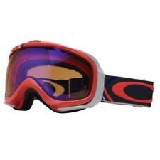 Oakley 57-735 ELEVATE Freedom Plaid Neon Fire w/ Persimmon Snow Ski Goggles .