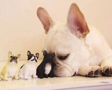 3X Little Cute French Bulldog Ornament Dog Figure Figurine Model Gift Present US
