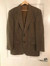 """Vintage M&S ST MICHAEL Pure Wool Jacket Blazer Houndstooth Check Country 40"""" VGC"""