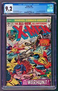 Uncanny X-Men #95 CGC 9.2 NM- 3rd App New X-Men Death of Thunderbird 1978 Marvel
