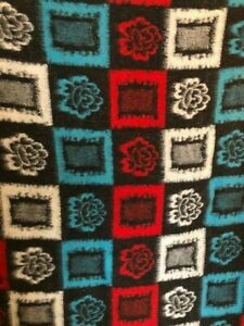 Vintage 1960's 1970's Colourful Blanket / Throw - Flowers - Festival / Camping