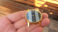 Vintage Pobeda, 17 jewels, hand-winding, gold plated + gift - leather band