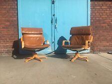 2 Lounge Sessel Skandinavisches Design Westnofa Ära Lounge Chairs Leder