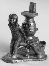 Misty,Pot Belly Stove Pewter Figurines by Michael Ricker