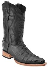 Men's White Diamonds Crocodile Tail Print Cowboy Boots 3X Pointy Toe Handmade