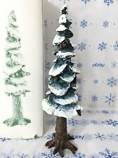 Dept 56 Pole Pine Tree Large 10.5 Inch 5529-8 Christmas Village Porcelain w Snow