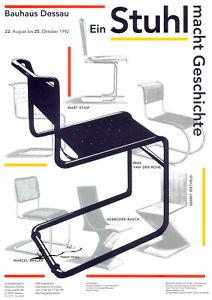 Plakat -  Bauhaus Ein Stuhl macht Geschichte / Marcel Breuer / Mart Stam / F5