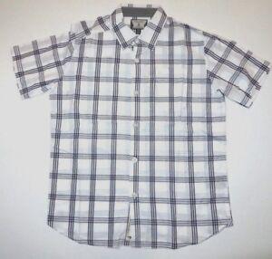 Volcom Boys Youth Weirdoh Plaid Button Up Casual Shirt Medium 10-12