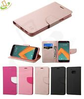 For HTC 10 Phone Case Leather Flip Card Wallet Cover Stand Pouch Folio Fold New