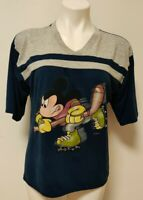 Vintage Disney Roller Hockey T-Shirt Mickey Unlimited Ladies Size Large Rare