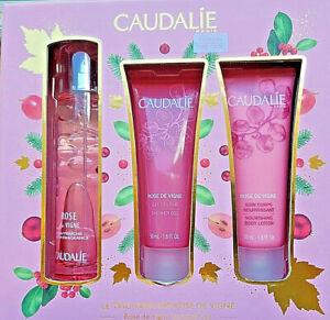 Caudalie Rose de Vigne Gift Set/Coffret Fragrance+Shower Gel+Lotion 50ml