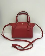 NWT Coach Pebble Leather Mini Kelsey Crossbody Handbag F28994 - True Red