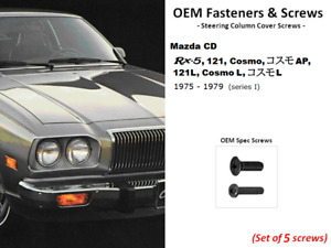 Quality OEM Fasteners; Steering Column Cover Screws(Rx5, Rx-5, Cosmo, 121, 121L)