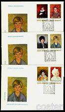1984 Children Portraits Paintings,Girl,Orange,Hat,Baby,Shepherd,Romania,4096,FDC