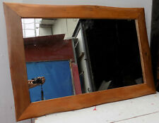 Mirror Wood Teak naturally deposited cm 100x70 Natural